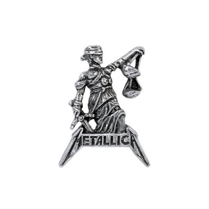 Alchemy Rocks Metallica: Justice for All Pin Badge from Gothic Spirit