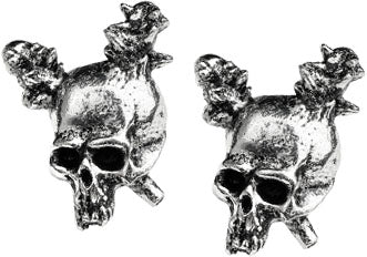Alchemy Rocks Metallica Damage Pair of Earrings - Gothic Spirit