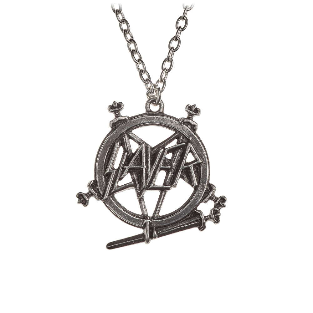 Alchemy Rocks Slayer: Pentagram logo Pendant from Gothic Spirit