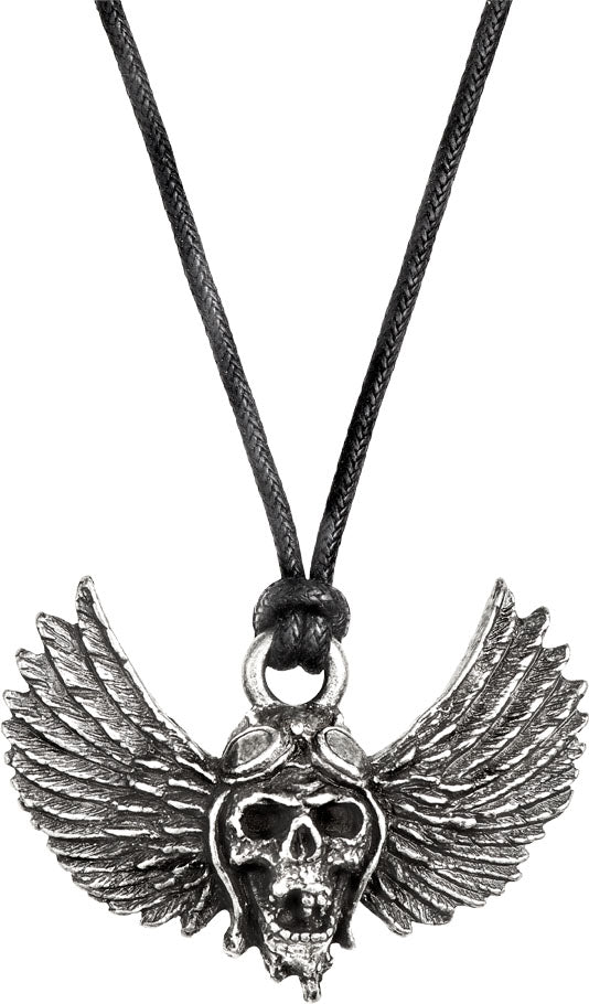 Alchemy Rocks Airbourne Winged Skull Pendant from Gothic Spirit