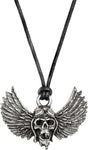 Alchemy Rocks Airbourne Winged Skull Pendant - Gothic Spirit