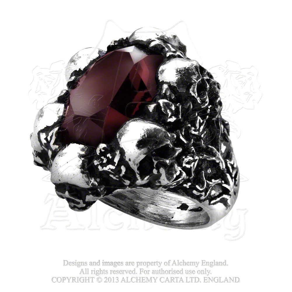 Alchemy Gothic Shadow Of Death Ring - Gothic Spirit