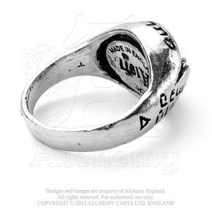 Alchemy Gothic Angel's Eye Ring - Gothic Spirit