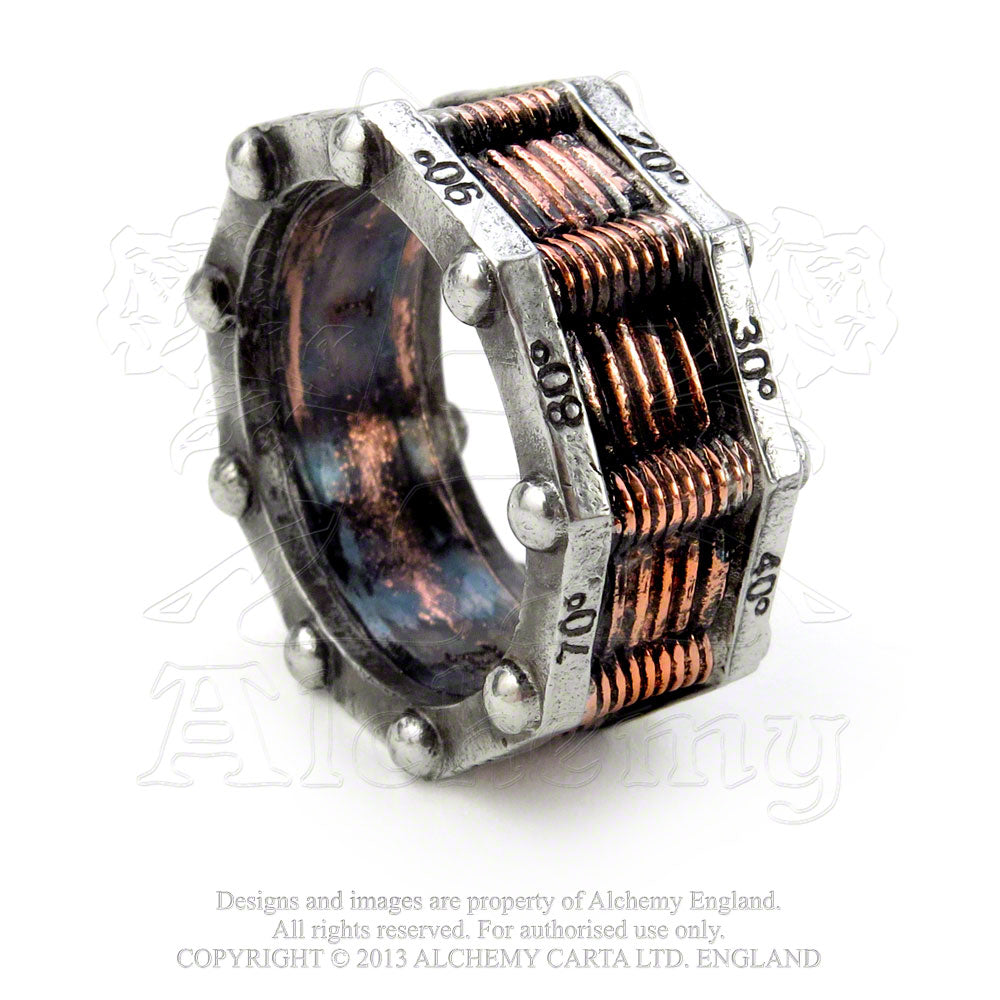 Alchemy Empire: Steampunk Hi-Voltage Toric Generator Ring - Gothic Spirit