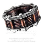 Alchemy Empire: Steampunk Hi-Voltage Toric Generator Ring from Gothic Spirit