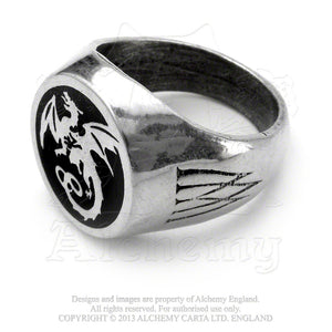 Alchemy Gothic Wyverex Dragon Ring - Gothic Spirit