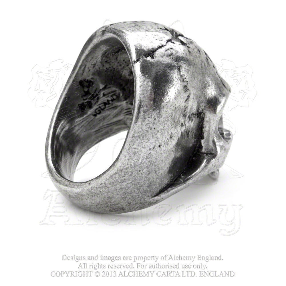 Alchemy Gothic Ruination Skull Ring - Gothic Spirit