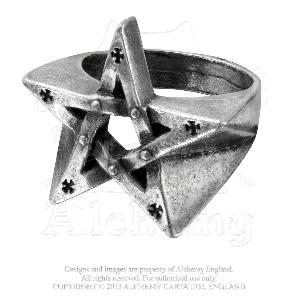 Alchemy Gothic Pentagration Ring - Gothic Spirit