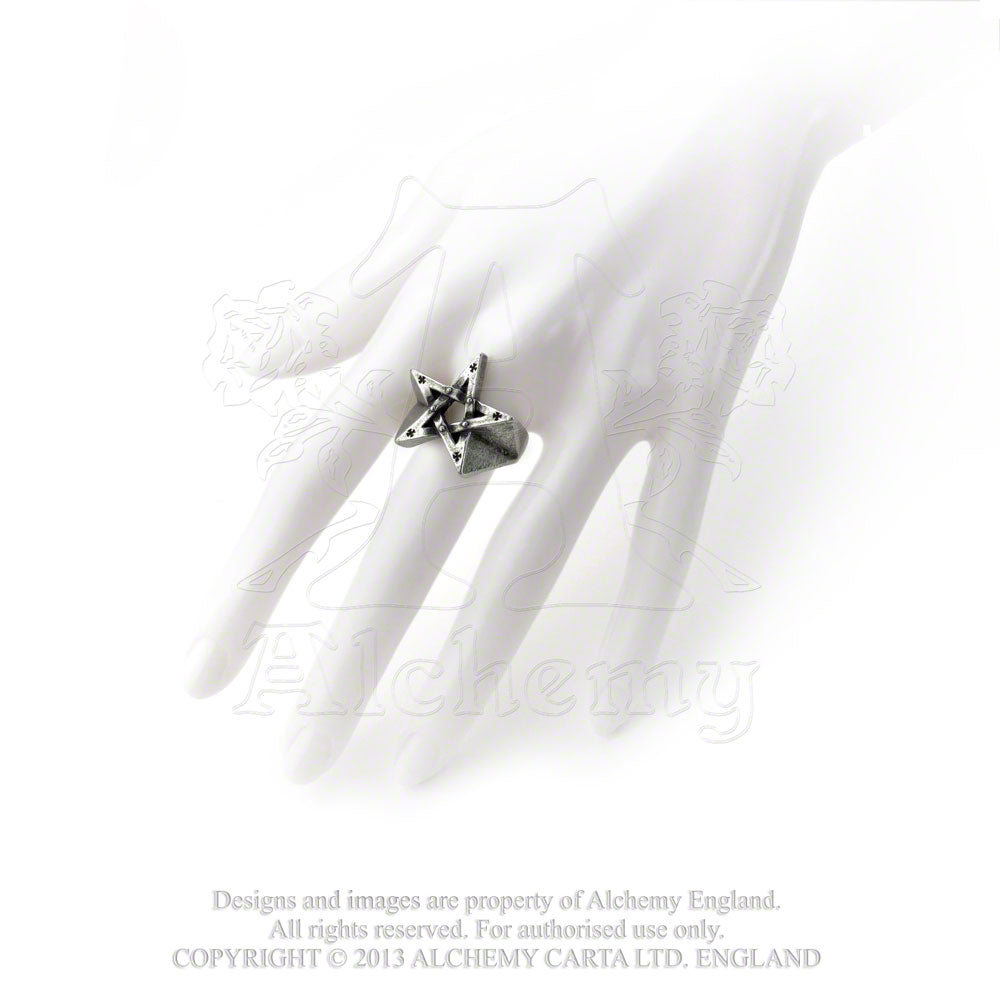 Alchemy Gothic Pentagration Ring from Gothic Spirit