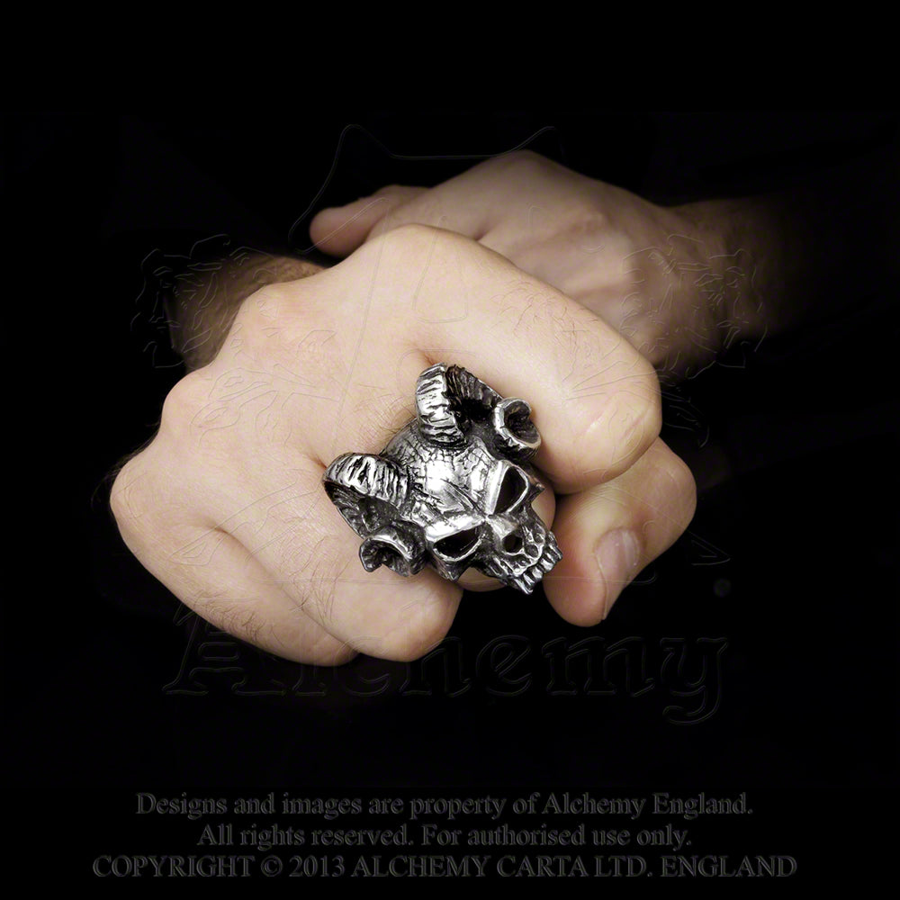 Alchemy Gothic Hell's Doorman Ring from Gothic Spirit