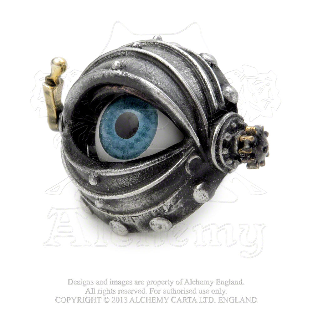 Alchemy Empire: Steampunk Automaton's Eye Ring from Gothic Spirit
