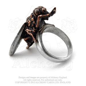 Alchemy Gothic Lord Of The Flies Ring - Gothic Spirit