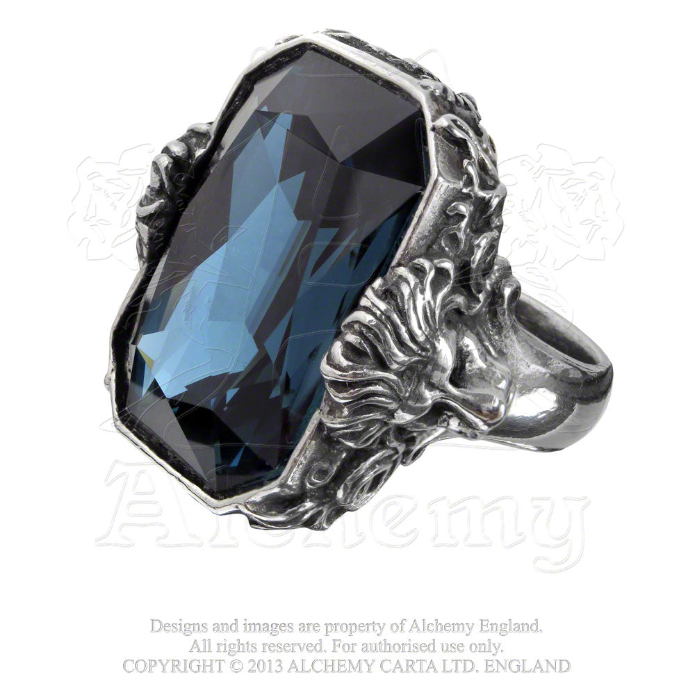 Alchemy Empire: Steampunk Britannia Gem Ring - Gothic Spirit
