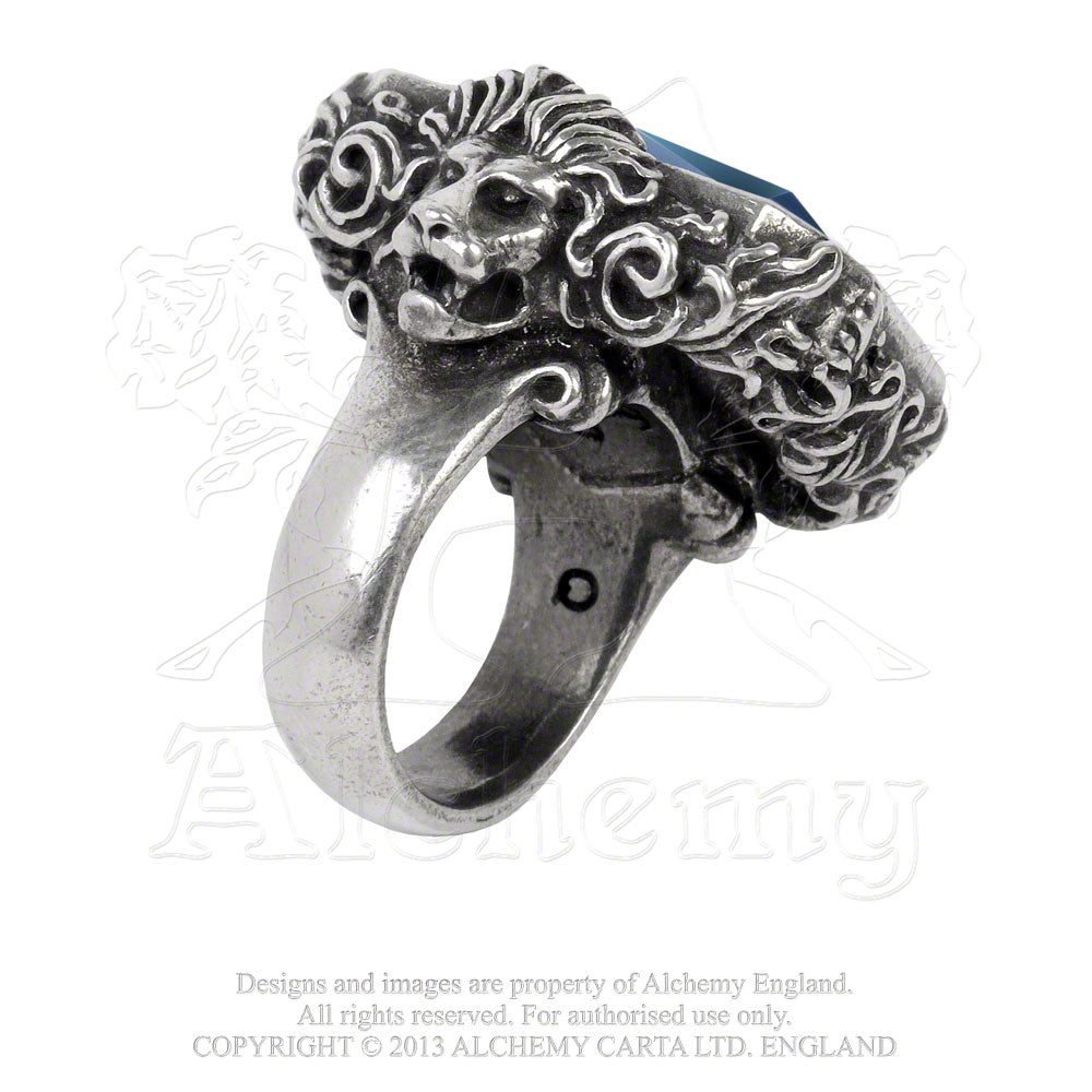 Alchemy Empire: Steampunk Britannia Gem Ring from Gothic Spirit