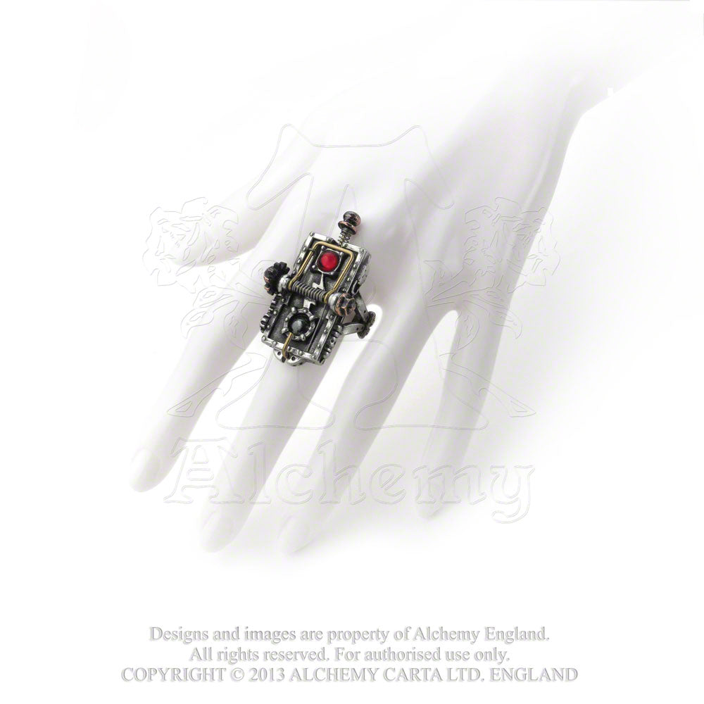 Alchemy Empire: Steampunk Van Helsing Kinetic Vampire-Mosquito Trap Ring - Gothic Spirit