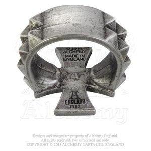 Alchemy Gothic Cross of Iron Ring - Gothic Spirit