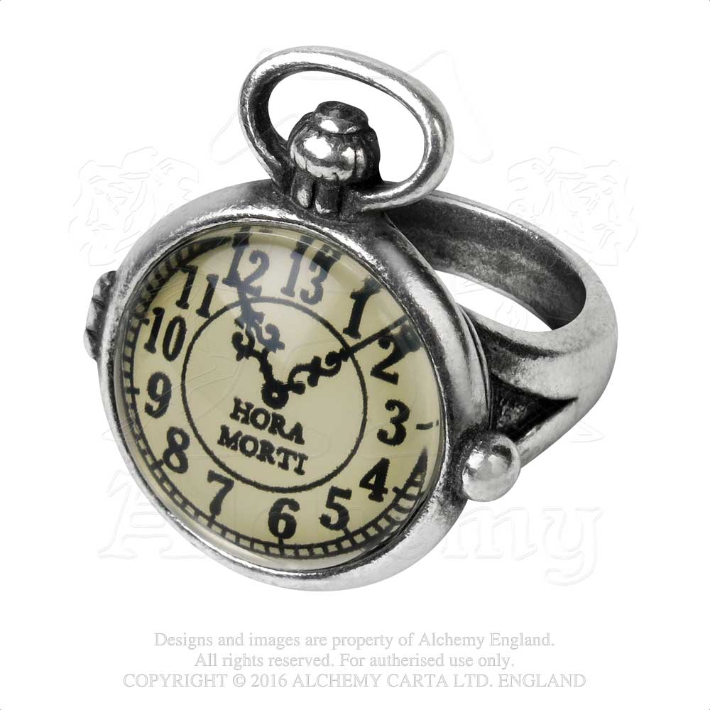Alchemy Empire: Steampunk Uncle Albert's Time Piece Ring - Gothic Spirit