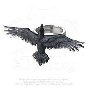 Alchemy Gothic Black Consort Ring from Gothic Spirit