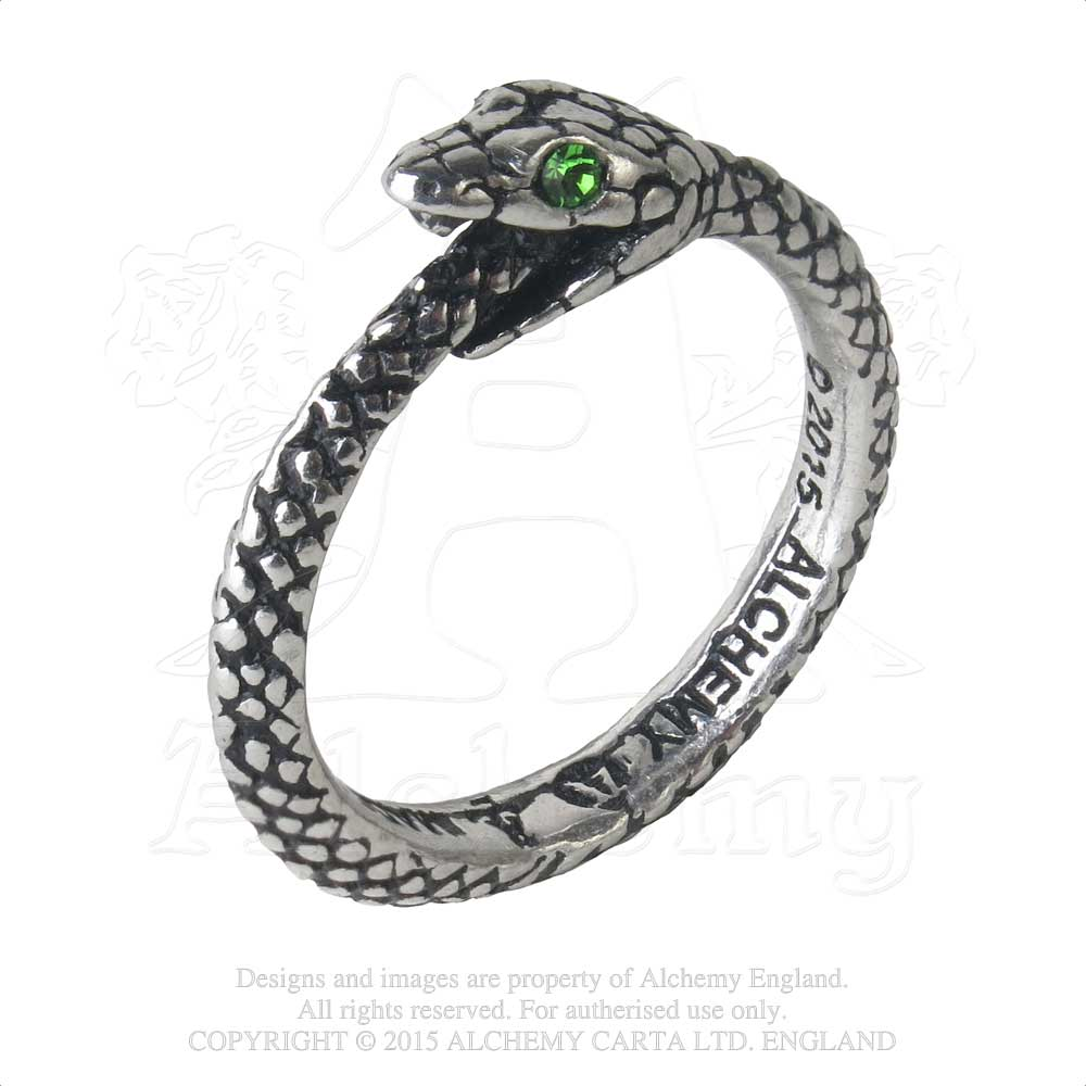 Alchemy Gothic The Sophia Serpent Ring from Gothic Spirit