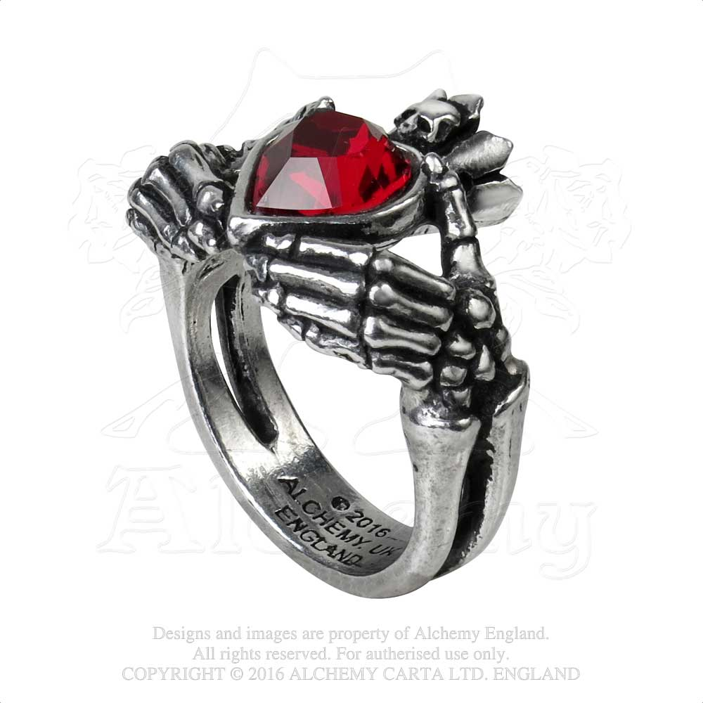 Alchemy Gothic Claddagh By Night Ring from Gothic Spirit