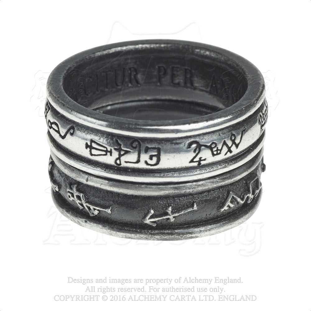 Alchemy Gothic Demon Black & Angel White Ring from Gothic Spirit
