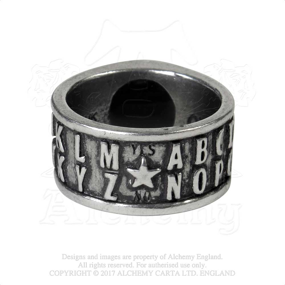 Alchemy Gothic Ouija Eye Ring from Gothic Spirit