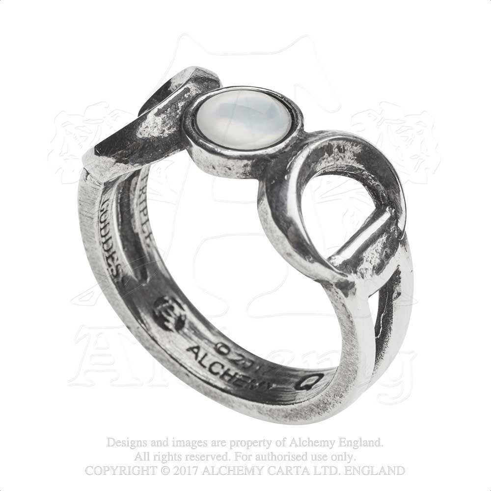 Alchemy Gothic Triple Goddess Ring from Gothic Spirit