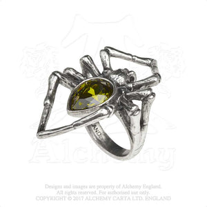 Alchemy Gothic Emerald Venom Ring from Gothic Spirit