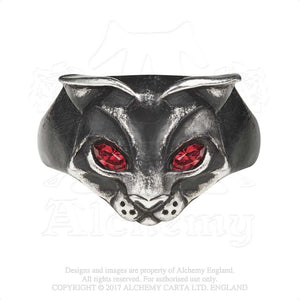 Alchemy Gothic Bastet Goddess Ring from Gothic Spirit