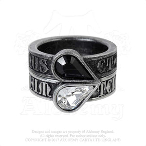 Alchemy Gothic Twin Heart Promise Ring Ring from Gothic Spirit