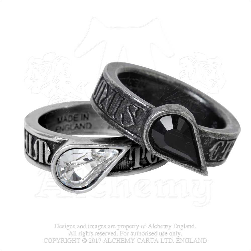 Alchemy Gothic Twin Heart Promise Ring Ring - Gothic Spirit