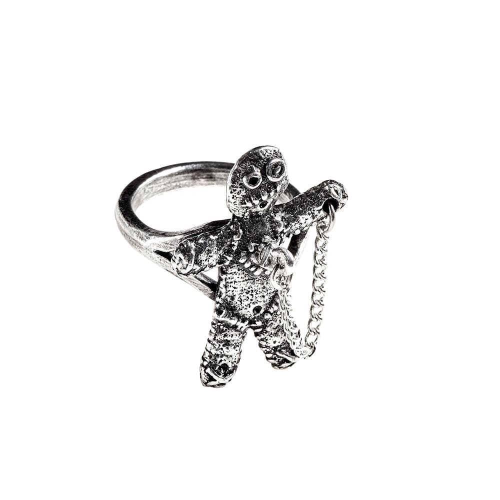 Alchemy Gothic Voodoo Doll Ring from Gothic Spirit