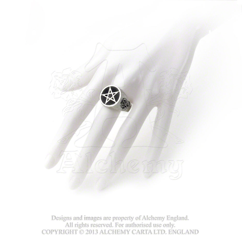 Alchemy Gothic Roseus Pentagram Ring from Gothic Spirit