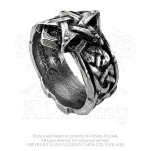 Alchemy Gothic Celtic Theurgy Ring from Gothic Spirit