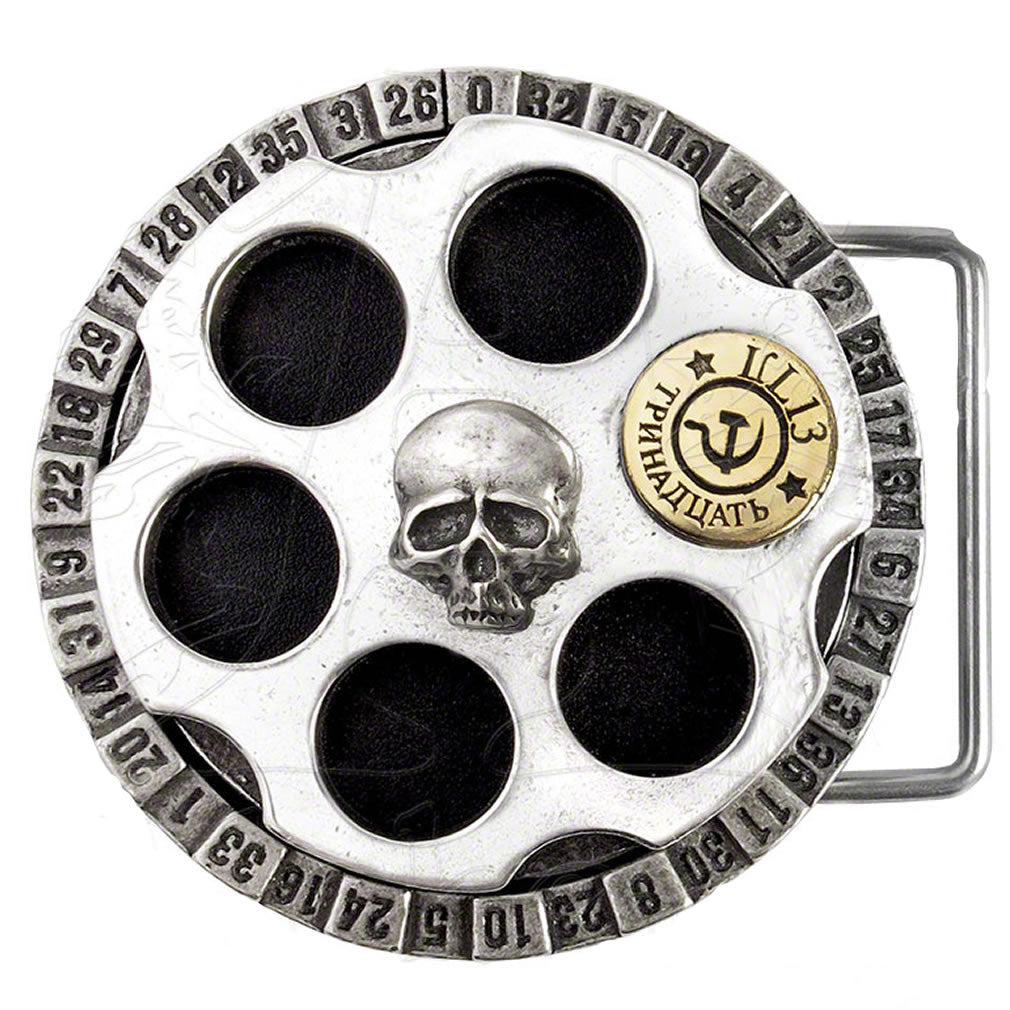 Alchemy UL13 Russian Roulette Belt Buckle from Gothic Spirit