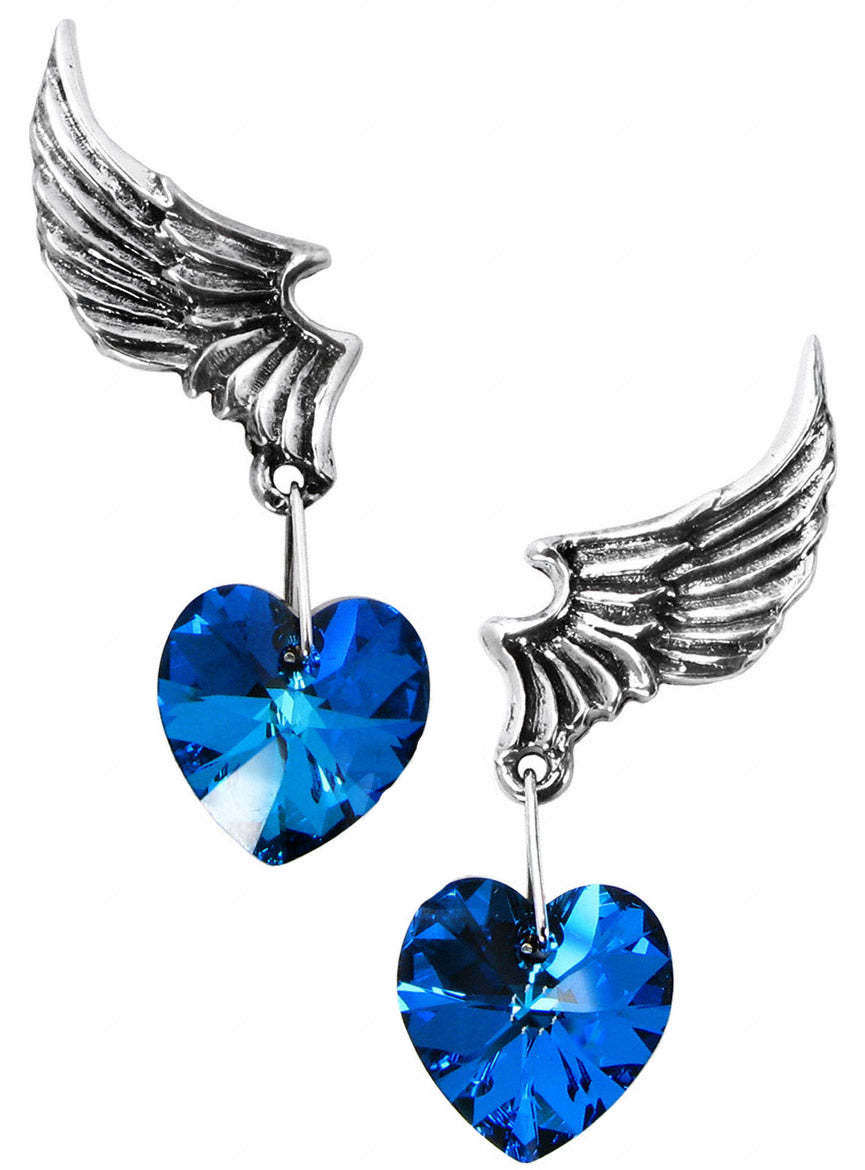 Alchemy UL17 El Corazon Pair of Earrings - Gothic Spirit