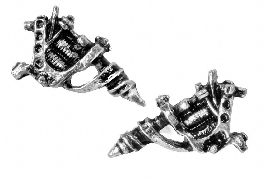 Alchemy UL17 Tattoo Gun Pair of Earrings - Gothic Spirit