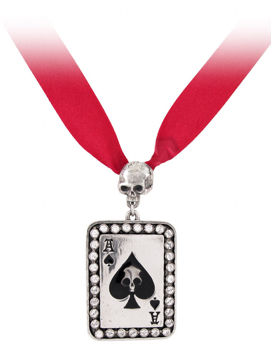 Alchemy UL17 Ace Of Spades Pendant - Gothic Spirit