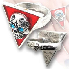 Alchemy UL17 Banderas De Los Muertos Ring from Gothic Spirit