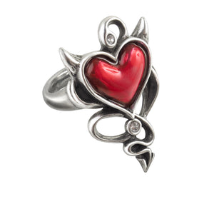 Alchemy UL17 Devil Heart Ring - Gothic Spirit