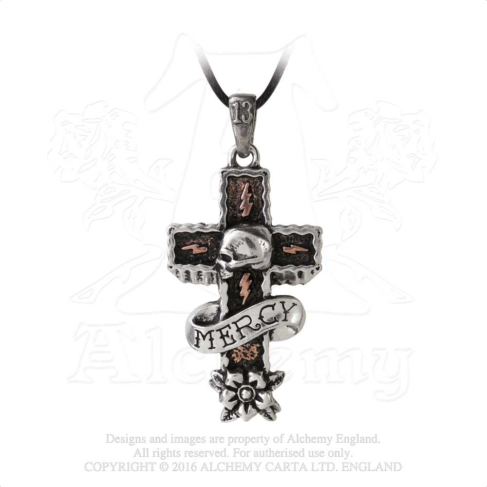 Alchemy UL13 Mercy Cross Pendant from Gothic Spirit