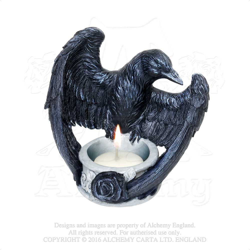 Alchemy - The Vault Raven's Ward T-Light Holder from Gothic Spirit