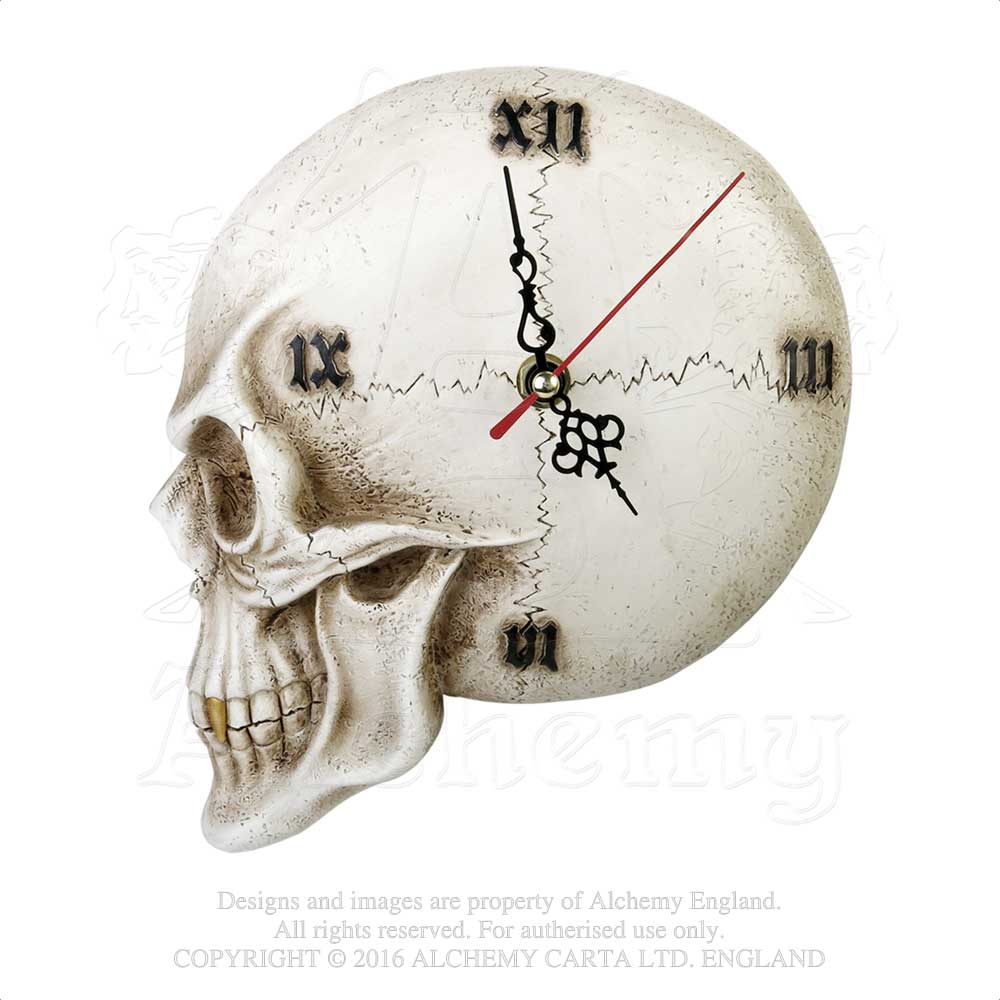 Alchemy - The Vault Tempore Mortis Skull Clock from Gothic Spirit