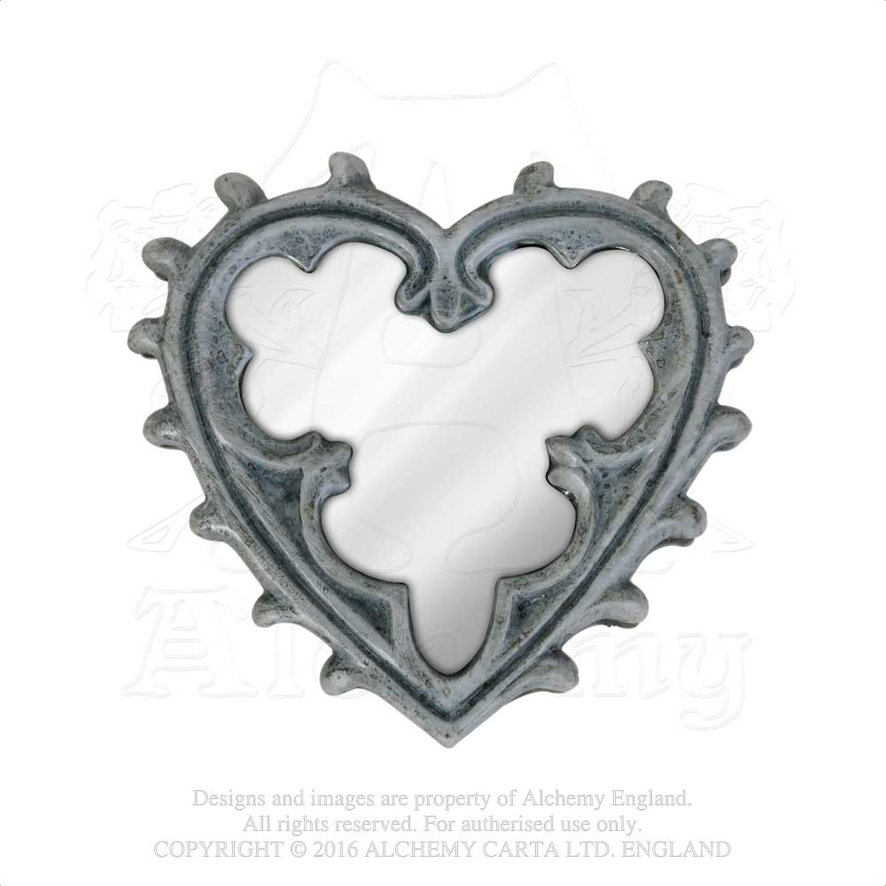 Alchemy - The Vault Gothic Heart Compact Mirror from Gothic Spirit