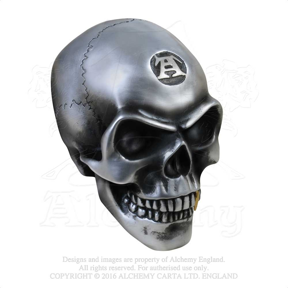 Alchemy - The Vault Metalised Alchemist Skull - Gothic Spirit
