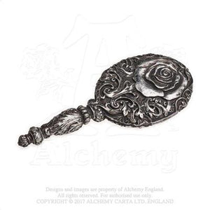 Alchemy - The Vault Baroque Rose Hand Mirror - Gothic Spirit