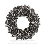 Alchemy - The Vault Black Rose Wreath Wall Plaque from Gothic Spirit