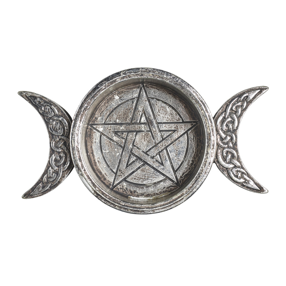 Alchemy - The Vault Triple Moon Trinket Dish from Gothic Spirit