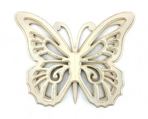 "18.5"" x 23"" x 4"" Light Yellow, Rustic Butterfly, Wooden - Wall Decor - Buy JJ's Stuff"