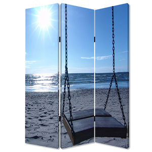 "1"" x 48"" x 72"" Multi-Color, Wood, Canvas, Seaside Serenity - Screen - Buy JJ's Stuff"